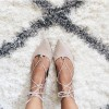 Women's Nude Pointed Toe Strappy shoes Comfortable Flats thumb 1