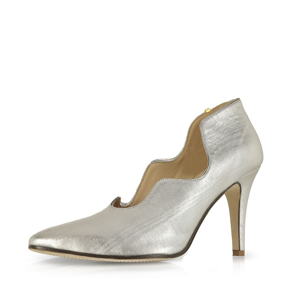 Women's Silver Pointed Toe Stiletto Heels Formal Evening shoes image 1