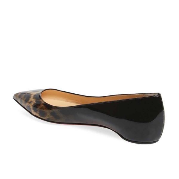 Women's Leopard Print Flats Comfortable Shoes Pointy Toe Flats image 2