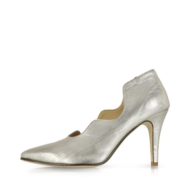Women's Silver Pointed Toe Stiletto Heels Formal Evening shoes image 2