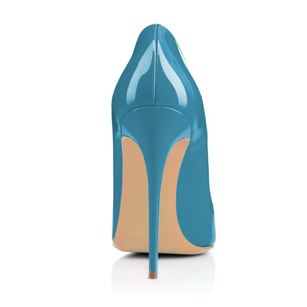 Blue Floral Office Heels Pointy Toe Stiletto Heels Pumps image 2