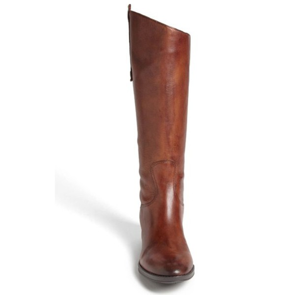 Tan Riding Boots Flat Vegan Leather Vintage Knee Boots US Size 3-15 image 3