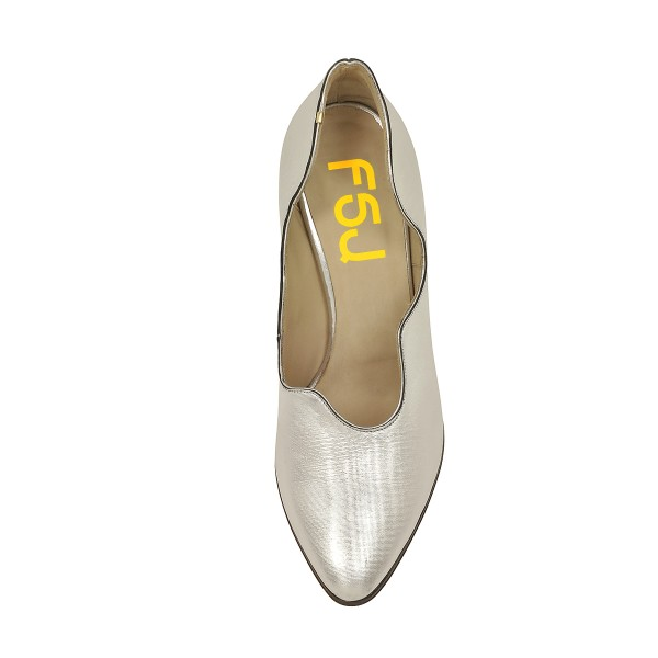 Women's Silver Pointed Toe Stiletto Heels Formal Evening shoes image 4