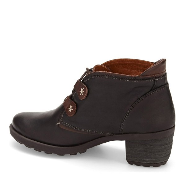 Dark Brown Casual Boots Lace up Vintage Shoes image 3