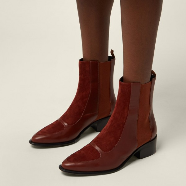 Brown Chelsea Boots Flat Ankle Boots image 2