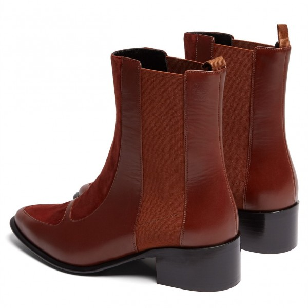 Brown Chelsea Boots Flat Ankle Boots image 4