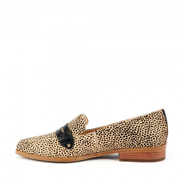 Leopard Print Slip-on Flat Penny Loafers for Women image 4
