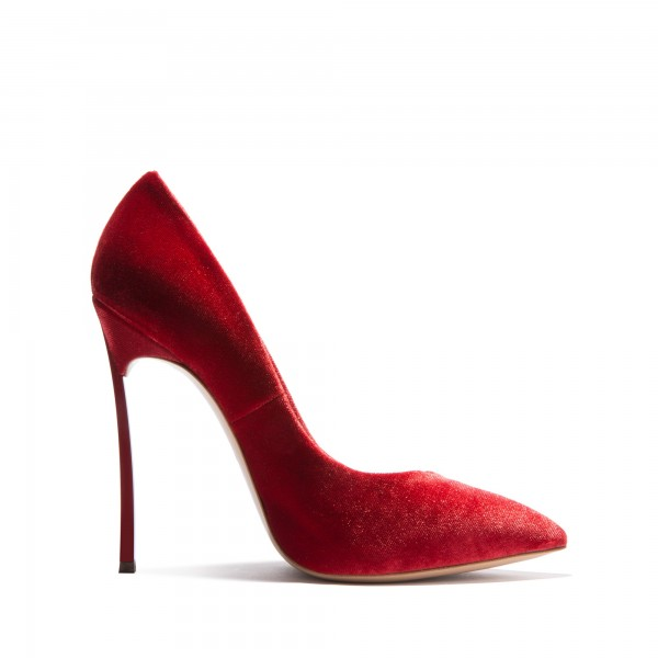 Burgundy Velvet Heels Pointy Toe Stiletto Heels Pumps for Women image 2