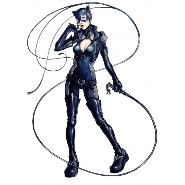 Cat Woman Long Boots Patent Leather Sexy Stilettos Thigh High Boots image 2