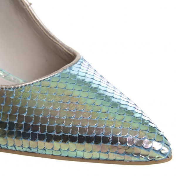 Green Holographic Fish-scale Stiletto Heels Mermaids High Heels Pumps image 2