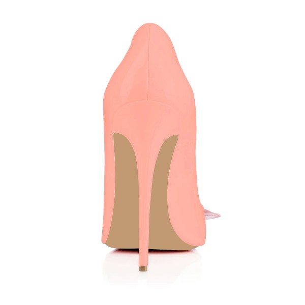 FSJ Pink Stiletto Heels Floral Pointy Toe Pumps for Female image 4