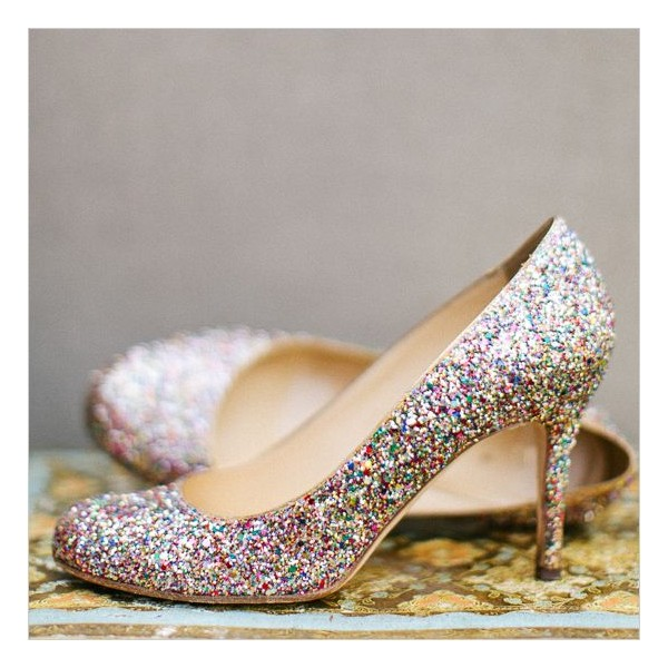 Colorful Glitter Shoes Bridal Heels Stiletto Heels Pumps for Wedding image 1
