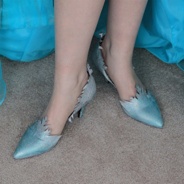Turquoise Heels Frozen Elsa Sparkly Pumps for Halloween image 1