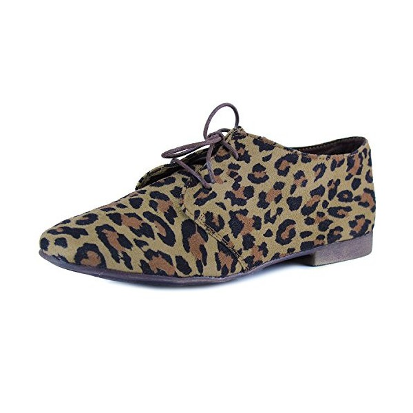 Women's Oxfords Leopard Print Flats Comfortable Shoes image 1