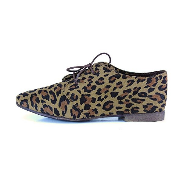 Women's Oxfords Leopard Print Flats Comfortable Shoes image 3