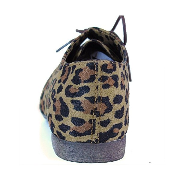 Women's Oxfords Leopard Print Flats Comfortable Shoes image 2