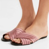 Plum Women's Slide Sandals Open Toe Flat Summer Slides Shoes