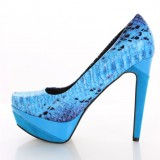 Ariel Platform Heels Mermaid Pumps for Halloween US Size 3-15