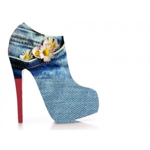 Flower Power Jean Boot