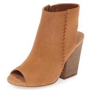 Women's Camel Summer Boots Peep Toe Vintage Ankle Boots Slingback Heels