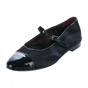 Black Round Toe Flats Mary Jane Shoes for Women