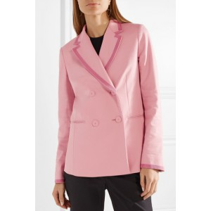 Women's Pink Double-breasted Blazer Business Clothes