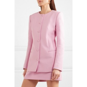 Pink Double-breasted Business Blazer for Women