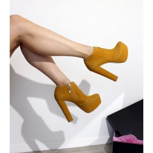 Custom Made Tan Suede Ankle Boots