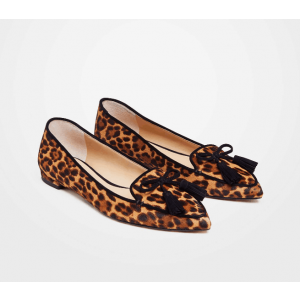 Custom Made Leopard Flat Loafers