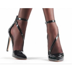 Custom Made Patent Leather Stiletto Heel Closed Toe Pumps