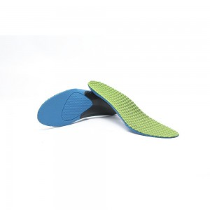Green and Blue Honeycomb Shaped Comfortable Insoles