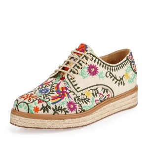 Multi-Color Lace Up Platform Shoes Casual Shoes for Women