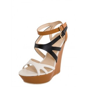 Multi-color Wedge Sandals Open Toe High Heels Shoes