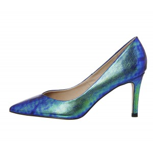 Ariel Mermaid Green Gradient Stiletto Heels Pointy Toe Pumps