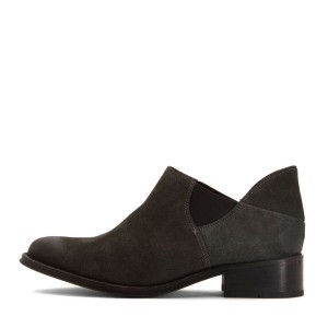 Dark Grey Vintage Shoes Round Toe Suede Comfy Flats