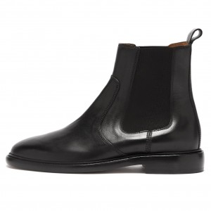 Black Chelsea Boots Flat Ankle Boots