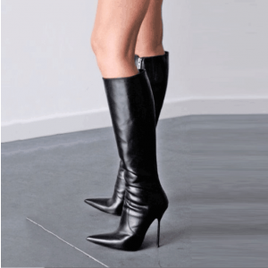 Custom Made Calf Length Boots in Black