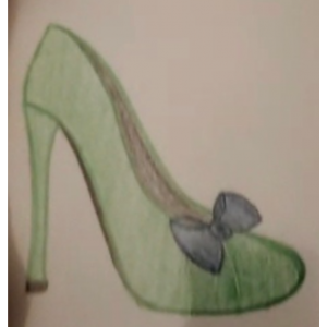Custom Made Green Bow Pumps