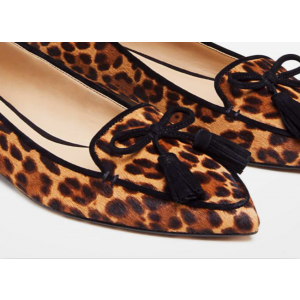 Custom Made Leopard Haircalf Flat Loafers