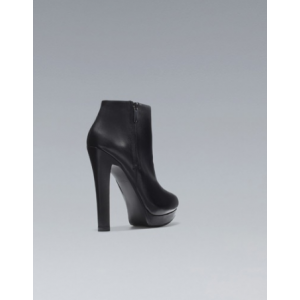 Custom Made Platform Chunky Heel Ankle Boots in Black