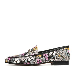 Multicolor Floral Loafers for Women