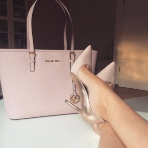 Peach and Champagne Office Heels Pointy Toe Stiletto Heel Pumps