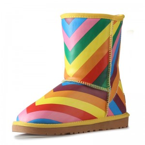 Rainbow Comfortable Shoes Winter Snow Boots US Size 3-15