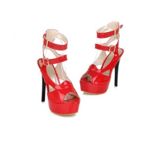Women's Red Super Stiletto Heel Platform Stripper Heels
