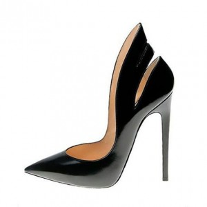 Black Office Heels 5 Inch Stilettos Heels Pumps for Office Ladies
