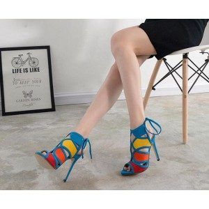 Women's Light Blue Slingback Heels Stiletto Heel Sandals