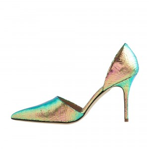 Women's Gradient Color Kitten Heels D'orsay Shoes