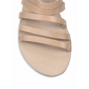 Nude Gladiator Sandals Open Toe Flats