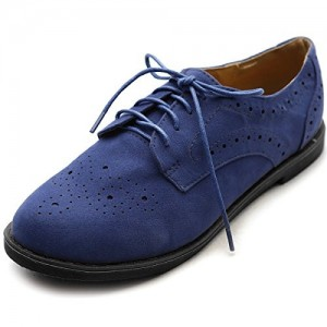 Navy Lace up Flats Women's Oxfords School Shoes
