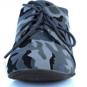 Camouflage Comfortable Shoes Lace-up Flat Oxfords